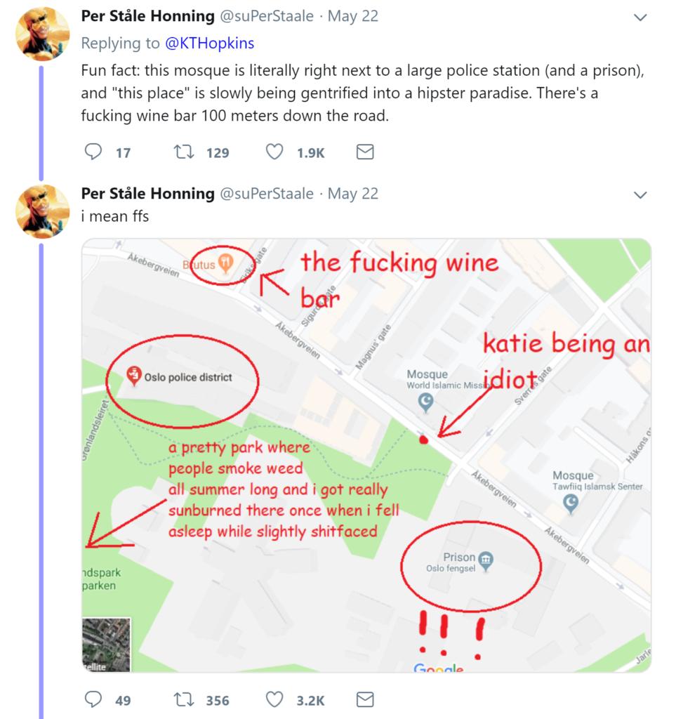 Norwegians Make Fun of British Far Right Activist Katie