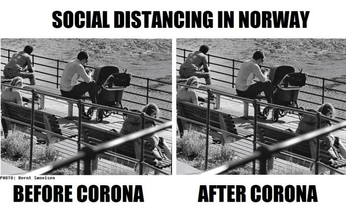 Social Distancing In Norway Before And After Corona Actually Not So Different The Nordic Page