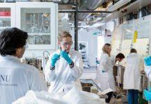 researchers in a labaratory