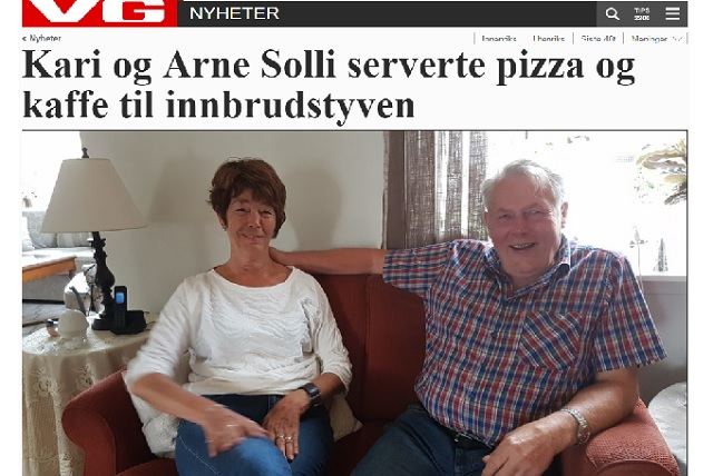 Norwegian Couple Served Pizza and Coffee to Housebreaker