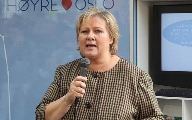 Erna Solberg Re-Elected as Norway Conservative Leader