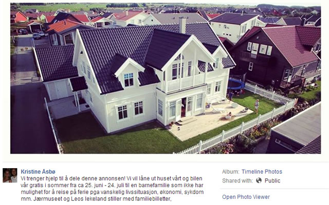 A Family in Norway Lends Their House, Cars and Holiday Package for Free