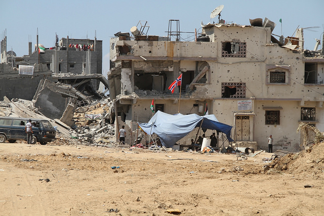 Norway Foreign Minister B�rge Brende in Gaza