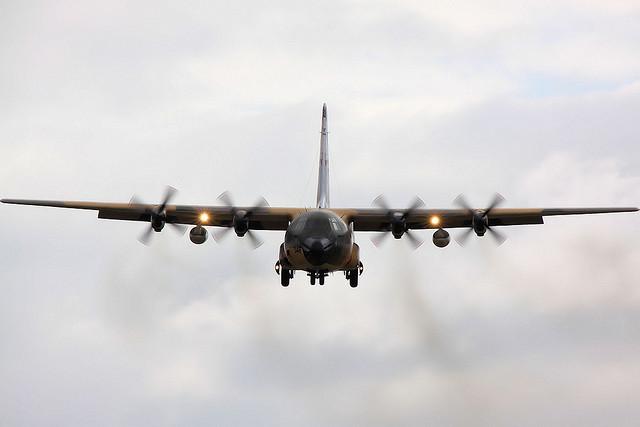 Norwegian Hercules to Sierra Leone with Ebola Equipment