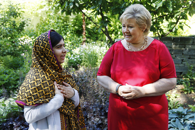 Norway Prime Minister Meets Nobel Peace Prize Winners