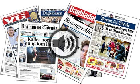 Today�s Newspapers Headlines in Norway