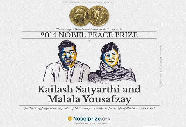 Kailash Satyarthi and Malala Yousafzai are Awarded with Nobel Peace Prize 2014