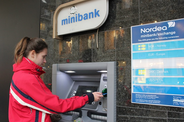 No More Cash from Nordea Bank Offices in Norway