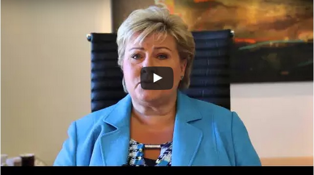 Norway Prime Minister Erna Solberg Answers Stephen Colbert�s Call