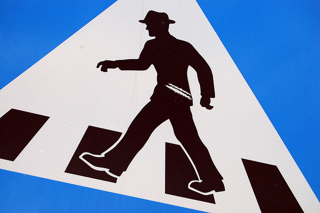 Traffic Sign in a Small Town in Norway Makes People Do the Monty Python Silly Walk
